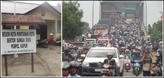 Gambar : Kemacetan yang parah di Tol II.